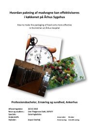 Hvordan pakning af madvogne kan effektiviseres i køkkenet på ...