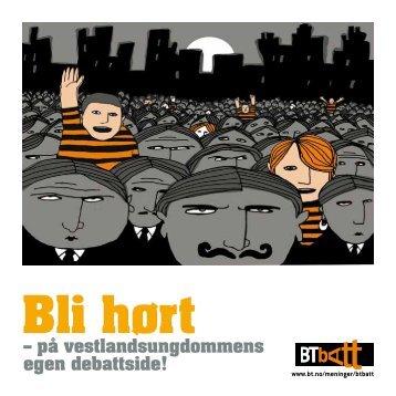 Bli hørt - Kundesenter - Bergens Tidende