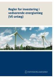 Regler for investering i vedvarende energianlæg (VE-anlæg)