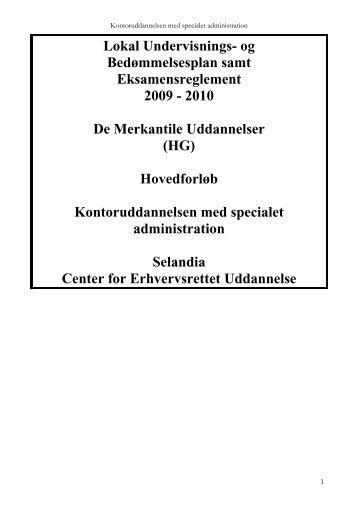 Lokal Undervisnings- og Bedømmelsesplan samt ... - Selandia CEU