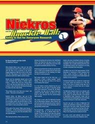 Read the full article here - Joe Niekro Foundation