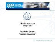 Rederidrift i Danmark v/ Jan Fritz Hansen, Danmarks Rederiforening