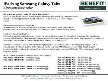 iPads og Samsung Galaxy Tab2 - Willis