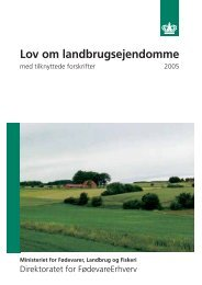 Lov om landbrugsejendomme
