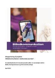 Billedkommunikation i elektroniske journaler - VIA University College