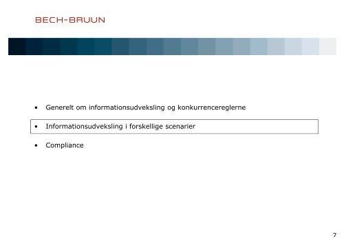 Informationsudveksling og konkurrencereglerne - Bech-Bruun
