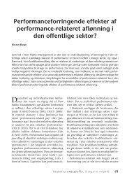 Performanceforringende effekter af performance ... - Nyt om Arbejdsliv