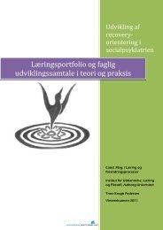 Læringsportfolio og faglig udviklingssamtale i teori og praksis