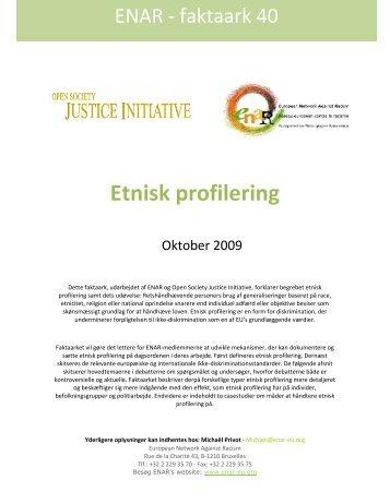 Etnisk profilering - Open Society Foundations