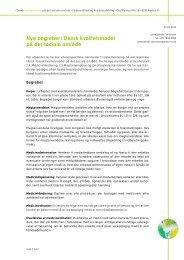 Nye begreber i Dansk kvalitetsmodel på det sociale område