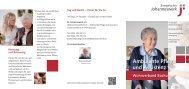 Flyer: Ambulante Pflege und Assistenz