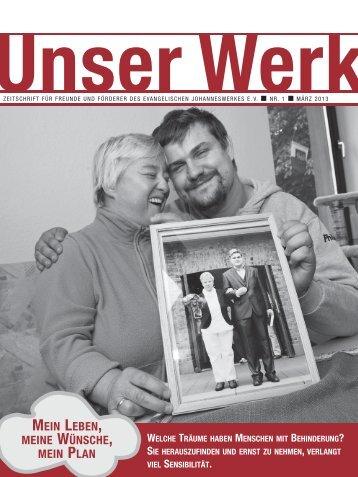 aktuelle Ausgabe von Unser Werk - Johanneswerk
