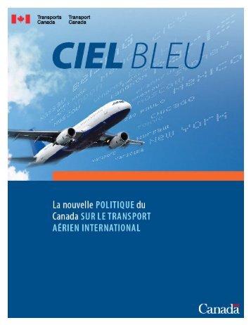Politique Ciel bleu - Transports Canada