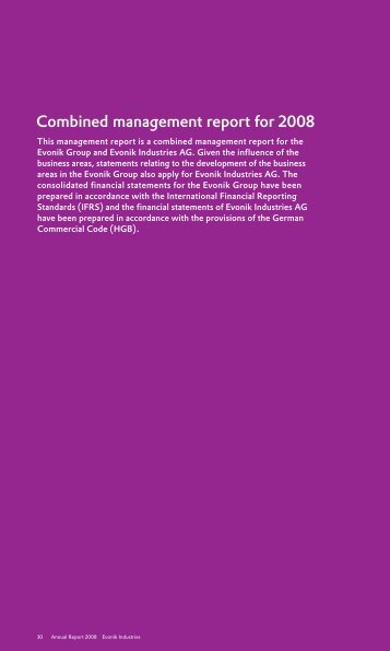 Annual Report 2008 of Evonik Industries, Part 2