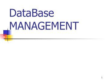 Operational Databases - John Meister