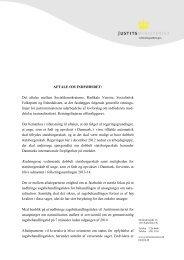 AFTALE OM INDFØDSRET: Det aftales mellem ... - Justitsministeriet
