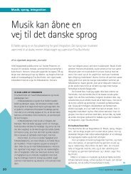 Musik kan åbne en vej til det danske sprog - Musik, Sprog og ...