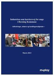 Industrien som karrierevej for unge i Herning Kommune - MPLOY