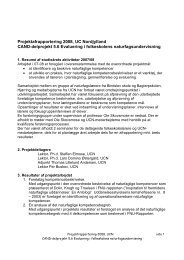 Projektafrapportering 2008, UC Nordjylland CAND ... - CANDs