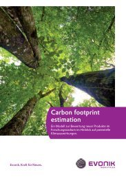 Carbon Footprint Estimation (CFE) - Evonik Industries AG
