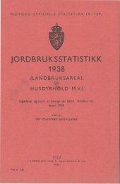 IX 159 1938 - Statistisk sentralbyrå
