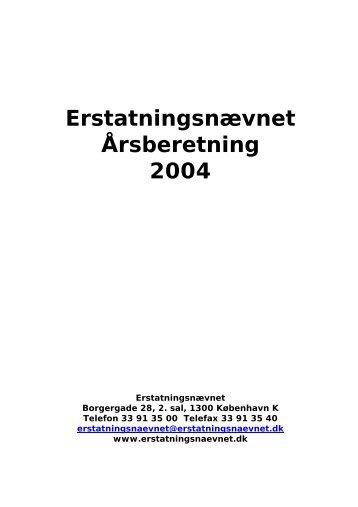 Erstatningsnævnet Årsberetning 2004