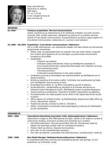 Download udvidet CV