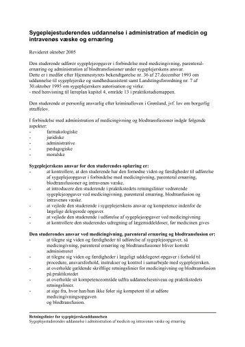 Sygeplejestuderendes uddannelse i administration af ... - Peqqik.gl