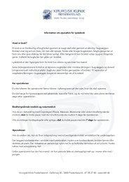 Hent Information om operation for lyskebrok som pdf.
