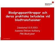 Blodgruppsantikroppar och deras praktiska betydelse ... - Jakobstad