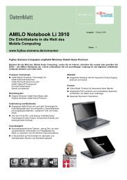 AMILO Notebook Li 3910 Die Eintrittskarte in die Welt des Mobile