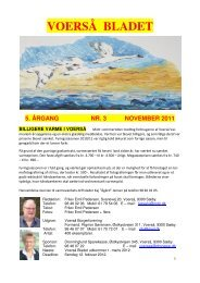 voerså bladet 5. årgang nr. 3 november 2011