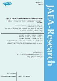JAEA-Research-2009-034.pdf:33.52MB - 日本原子力研究開発機構