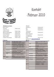 Skolebestyrelsen Skolen Februar: Marts: - Gesten Skole