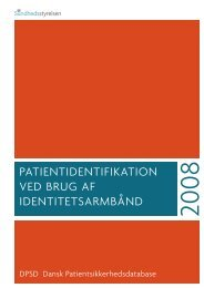 patientidentifikation ved brug af identitetsarmbånd - DPSD