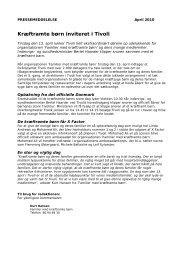 Download pressemeddelelse som PDF her - Familier med ...