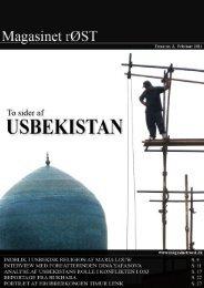To sider af Usbekistan - Magasinet rØST