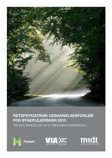 Landsdækkende retspsykiatrisk uddannelse for sygeplejersker 2013