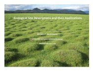 Ecological Site Descriptions and their Applications - The Jornada