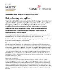 Danmarks første dimittend på akademiuddannelsen i ... - SOSU C