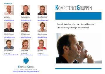 Konsulentydelser, efter– og videreuddannelse - Kompetencegruppen