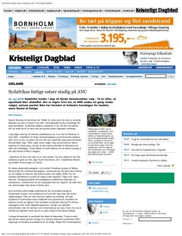 Interview to Kristeligt Dagblad