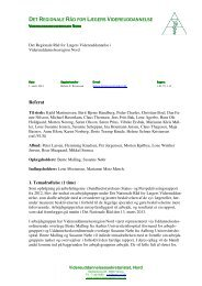 Referat - Videreuddannelsesregion Nord