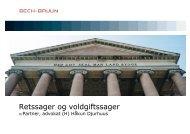 Retssager og voldgiftssager - Bech-Bruun