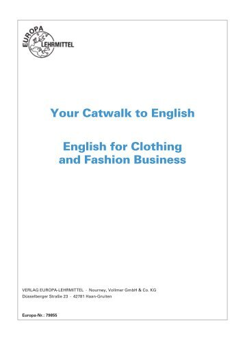 Your Catwalk to English English for Clothing and Fashion Business
