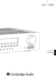 AP215821 Azur 340R User's Manual - 03 DAN ... - Cambridge Audio