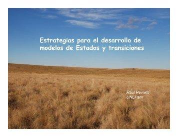 Estrategias para el desarrollo de modelos de Estados ... - The Jornada