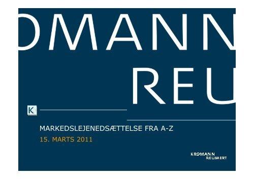 Markedslejenedsættelse fra A-Z - Kromann Reumert