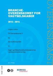 Brancheok for vagtselskaber med G4S protokollater 2010-2012 ... - DI