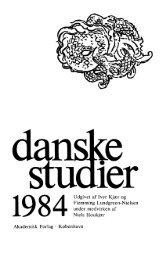 1984 Udgivet af Iver Kjær og Flemming Lundgreen ... - Danske Studier